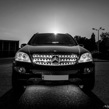 car photography mercedes-ml-500