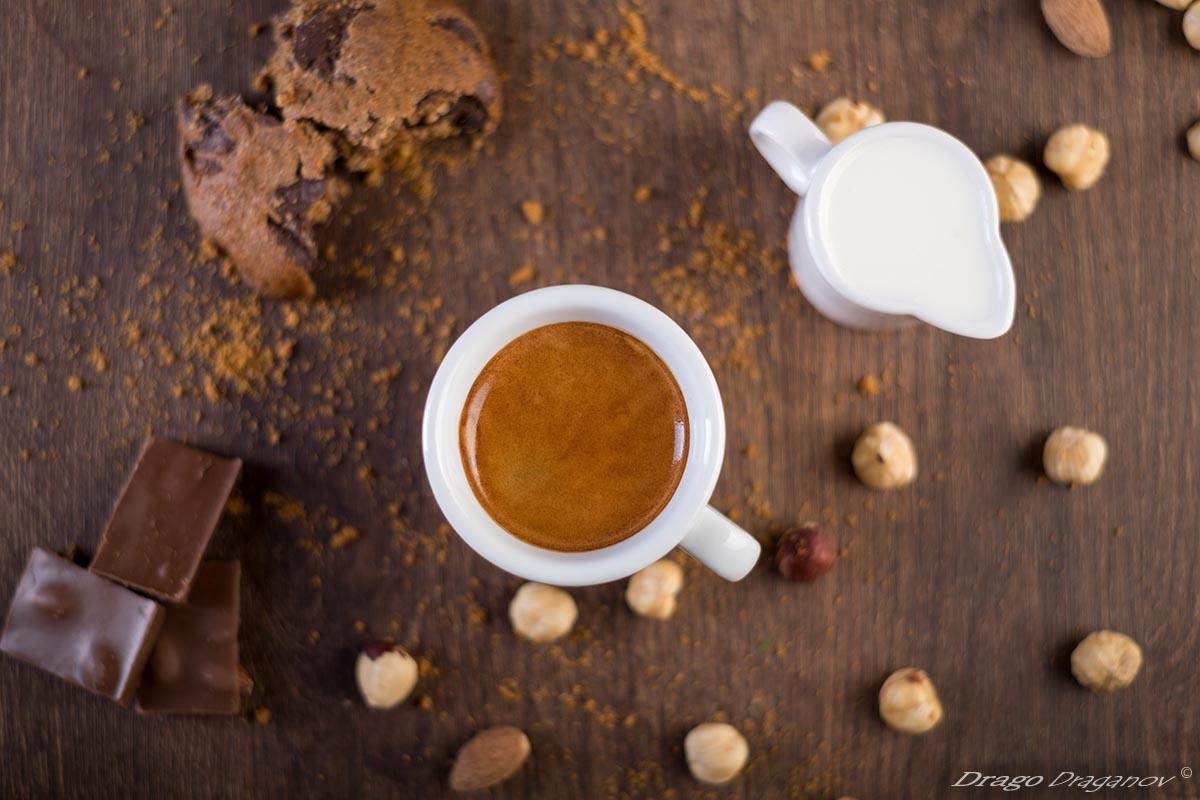 Продуктова фотография кафе