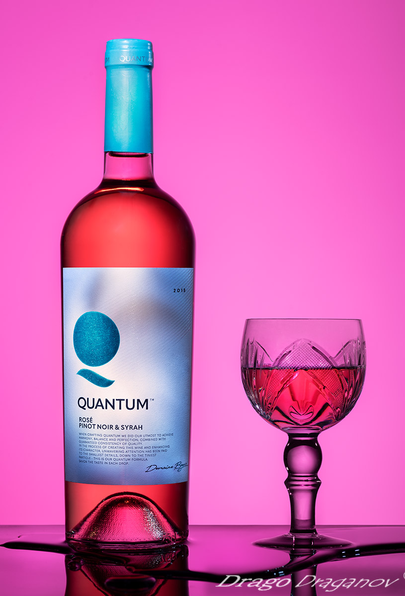 рекламна фотография вино